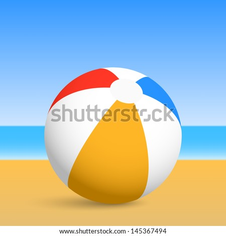 beach ball vector illustration