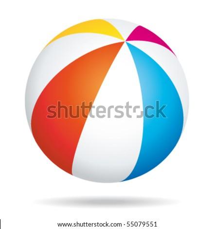 beach ball vector illustration