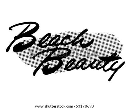 Beach Beauty - Ad Header - Retro Clipart