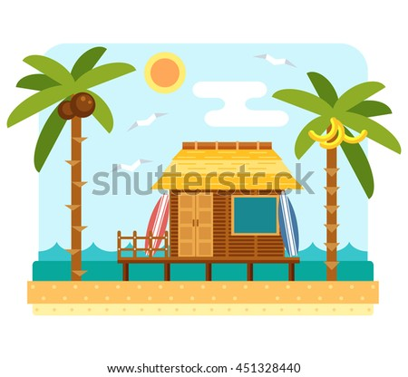 beach bungalow hotel flat