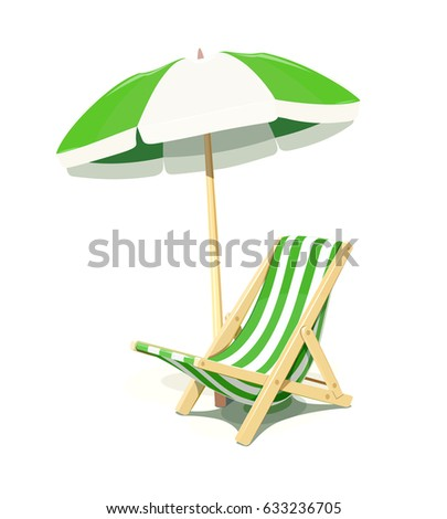 beach chair and umbrella for