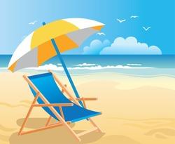 Beach chair & umbrella