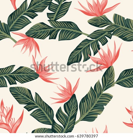 beach cheerful seamless pattern