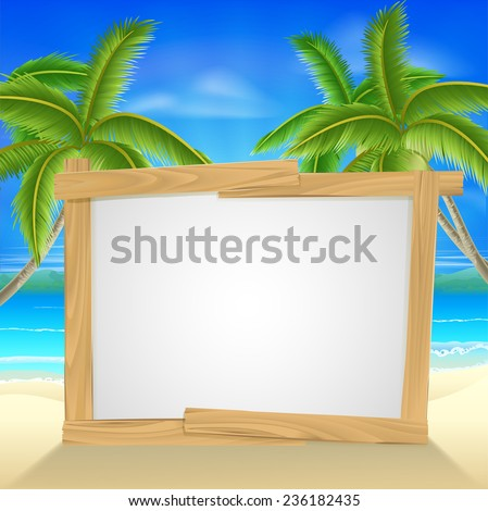 beach holiday or vacation palm