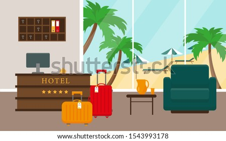 beach hotel reception interior