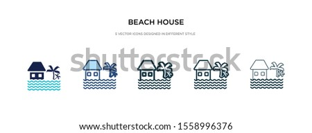 beach house icon in different