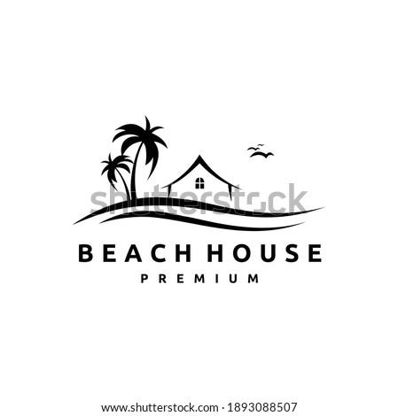 beach house logo design template