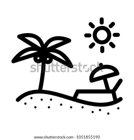 Beach illustration, holiday