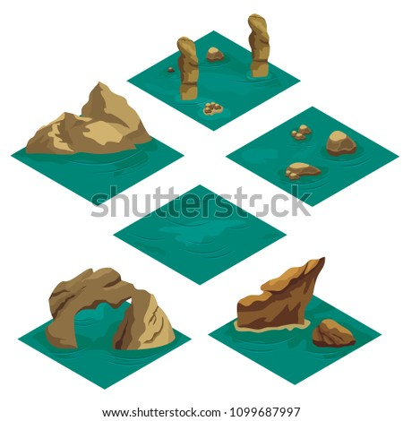 beach landscape isometric game