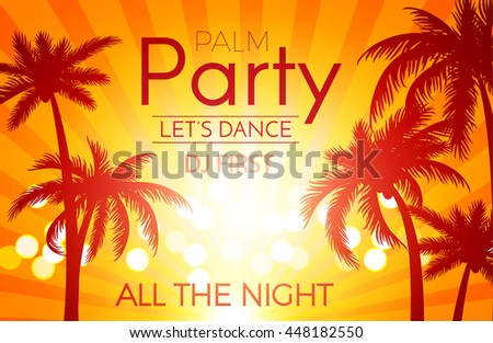 beach party background with