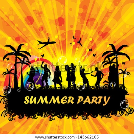 beach party design template