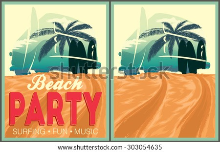 Beach party poster illustration download free vector art stock beach party poster and invitation template stopboris Image collections