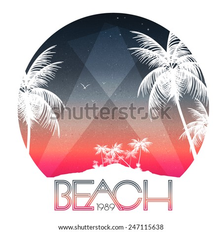 beach party poster with