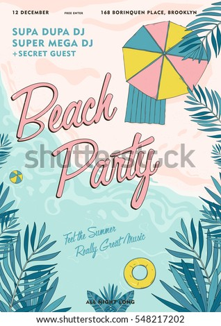 beach party tropical poster