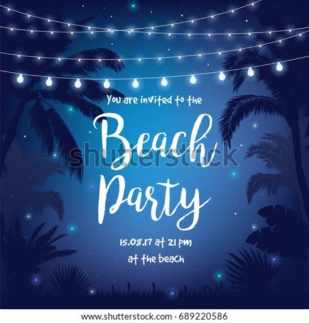 beach party vector illustration