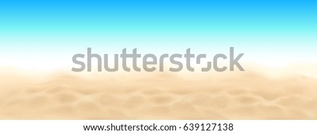 beach sand and sky vector