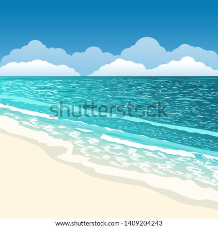 beach scenery summer