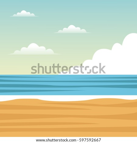 beach sea sand clouds
