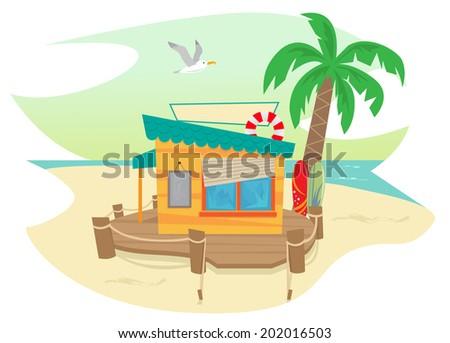 beach shack   cute beach shack