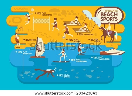 beach sports info graphic