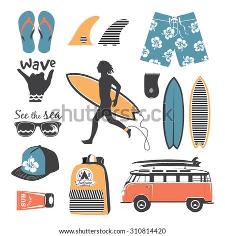beach style surfer retro