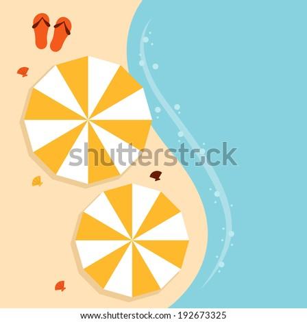 beach summer background with