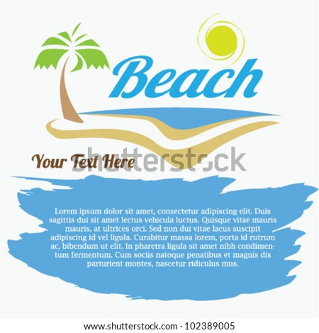 Beach Summer Flyer Design - Vector