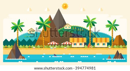 beach summer landscape tourist