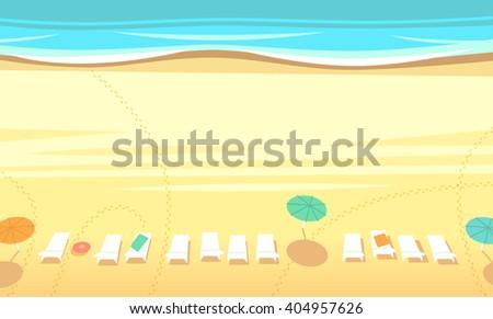 beach top view vector