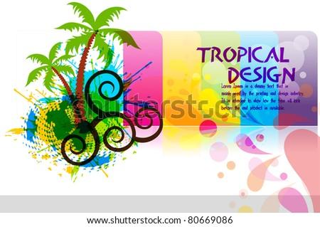 Beach tropical Party. Editable Vector illustration
