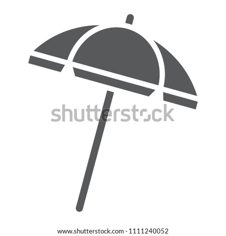 Beach umbrella glyph icon, travel and parasol, sun umbrella sign vector graphics, a solid pattern on a white background, eps 10.