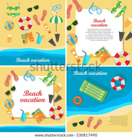 beach vacation vector concept