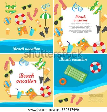 beach vacation vector concept