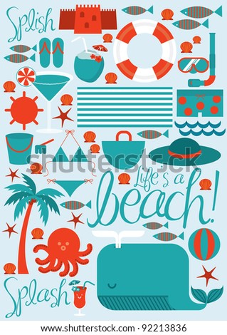 beach vector vector/illustration