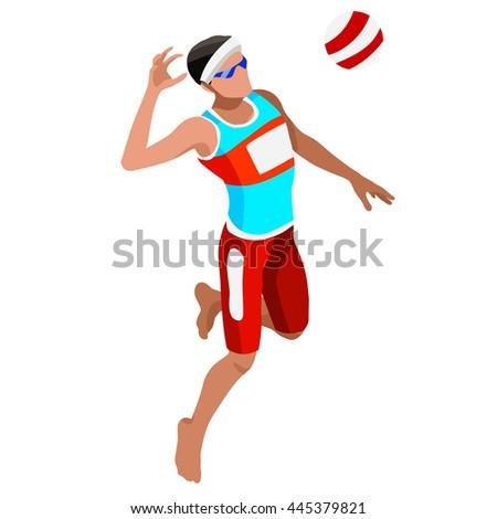 beach volley player sportsman