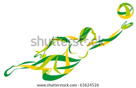 volleyball girl download free vector art stock graphics images rh vecteezy com Volleyball Net Dead Frogs Volleyball