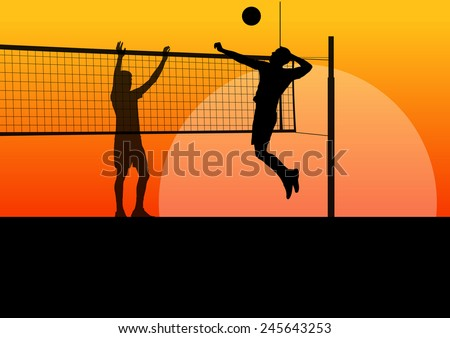 beach volleyball man player