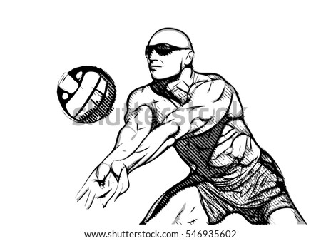 beach volleyball player in