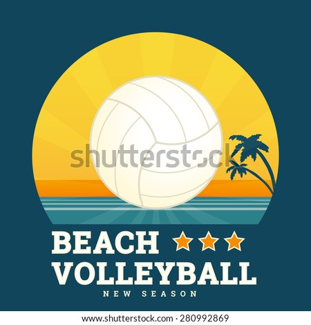 beach volleyball seasonal card