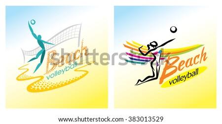 beach volleyball vector sport game sand