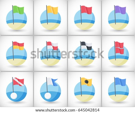 Dive Flag Icon - Download Free Vector Art, Stock Graphics & Images