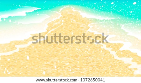 beach  waves and sand bright