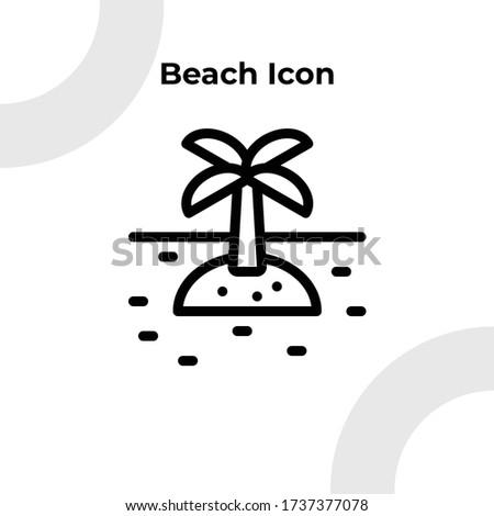 beach with coconut three icon