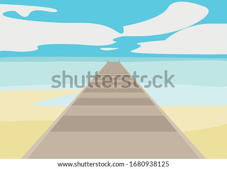 beach with jetty and wooden