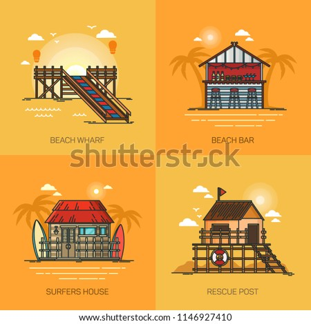beach with pier and bar  rescue