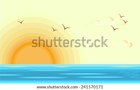 beach with sunrise at the