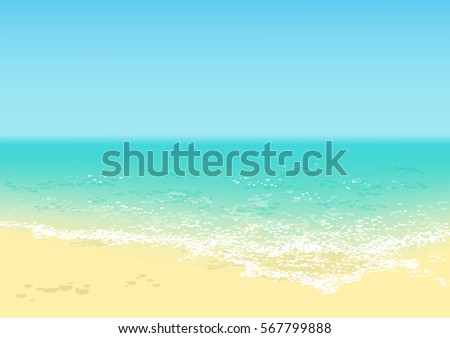 beach with turquoise tropical