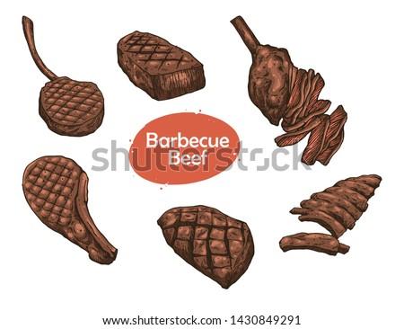 beaf meat for menu design