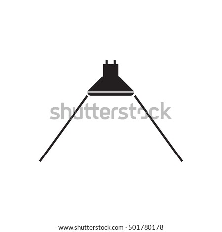 Beam Angle icon for led light - vector illustration.