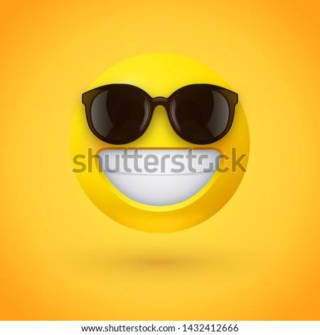 beaming face emoji with